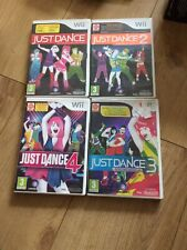 Nintendo Wii - Just Dance Collection  collection - All 4 Games  - Work On Wii U