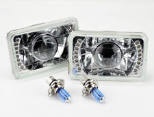 "4x6"" Halogen H4 Clear LED DRL Projector Glass Headlights Conversion Bulb Oldsmob"