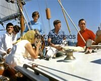 SAILING OCEAN PRESIDENT JOHN F. KENNEDY ABOARD THE MANITOU SAILBOAT 8X10 PHOTO
