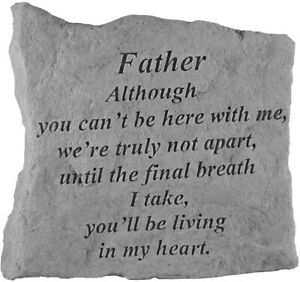 Father Memorial Garden Stone Plaque Grave Marker Ornament You Cant Be Here With