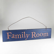 Family Room - Home Decor Shabby Chic Wooden Hanging Door Sign / Plaque