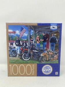 Milton Bradley Rust in Peace Biker Art Kevin Daniel 1000 Piece Puzzle New