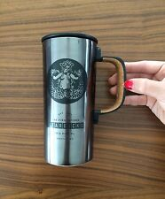 First Starbucks Mermaid logo Travel Mug Cup Tumbler with handle Pike Place