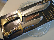 Schrade Uncle Henry Stagalon Hunter Bowie Combo 2 Knife Set UHCOM3CP Full Tang
