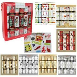 12 Pack Luxury 34cm Christmas Crackers - Choose Design