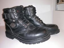Harley Davidson Motorcycle Boots Lace Up 91017 Black Men's Size 9.5
