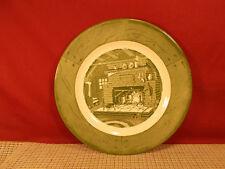 "Royal China USA Colonial Homestead Green Dinner Plate 10"""
