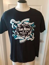Ford Motor Company Detroit Mi T- Shirt.Black with clear graphics. Pre owned.XL.