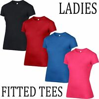Anvil Womens Fashion Basic Fitted T Shirt Ladies Girls Tee Top All Sizes Shop