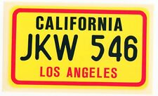 figurina U.S.A. TARGHE NUMBER PLATES EDIZIONE FIGURINA CLUB NEW CALIFORNIA L. A.