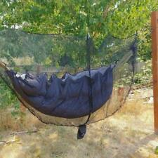 290 x 140cm Outdoor Hammock Swing with Integrated Mosquito Curtain Bugs Net V1G4