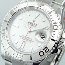 ROLEX 116622 STEEL PLATINUM YACHTMASTER MENS 40 mm OYSTER EASYLINK CLASP BUCKLE