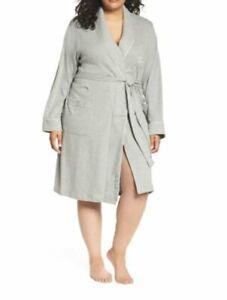 Lauren Ralph Lauren Plus Shawl-Collar Robe Heather Grey Size 3X
