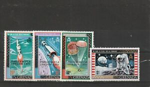 GRENADA - 1970 MNH SG405-408 SPACE STAMPS OVPT PHILYMPIA LONDON 1970