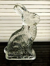 Old Glass Rabbit Candy Container with Chip in glass~ Mfg. by J. H. Millstein Co.