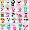"6"" Ty Beanie Boos Babies Big Eyes Plush Animals Doll Kids Stuffed Soft Toy"