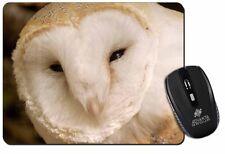 White Barn Owl Computer Mouse Mat Christmas Gift Idea, AB-O20M