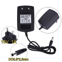 Universal DC15V 1A Adapter AC 100V-240V zu DC 15V Konverter Netzteil