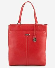 Cole Haan Village Marcy Tech Tote Tote Tango Red Leather Handbag Bag New