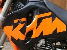 2 KTM Aufkleber/Folie riesig 50cm x 15cm schwarz, orange, weiß 1707
