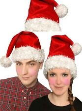 Christmas Father Santa Hat Fur Xmas Santa Fancy Dress Costume Hats Accessory