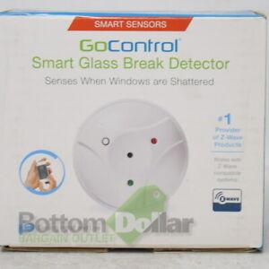 GoControl GB00Z-2 Z-Wave Long Battery Life Smart Glass Break Detector White