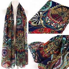 New Womens Chiffon Print Silk Long Neck Scarf Shawl Stole Wraps Pashmina Scarves