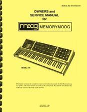 Moog Memorymoog Analog Synthesizer OWNER'S MANUAL and SERVICE MANUAL