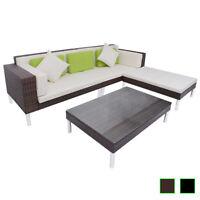 vidaXL Garden Sofa Set 17 Piece Poly Rattan Outdoor Seat Lounge Black/Brown