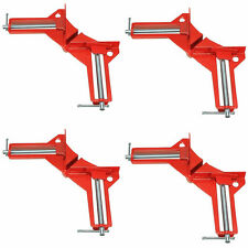"4pcs 90 Degree Right Angle Miter Corner Clamp 3"" Capacity Picture Frame Jig Red"