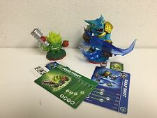 Skylanders Trap Team Food Fight & Snap Shot Loose Figures+Card+ web Code