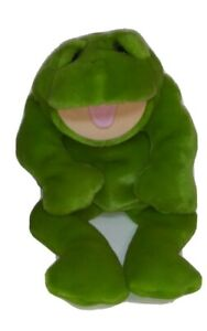 Lou Rankin Friends Herbert Frog Hand Puppet Kermit Green Plush Stuffed Animal