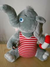"19"" Coca Cola Elephant Stuffed Animal Lifeguard Swimsuit Holding Coke Bottle"