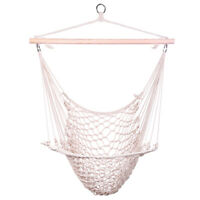 Cotton Hanging Rope Air/Sky Chair Swing beige Hammock Set Hanging Seat Bed