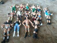 Lot Of 16 WWE Figure