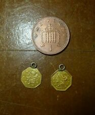 More details for 1871 liberty gold coins american half dollar octagonal x 2 coins with loops usa