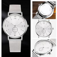 NEW Women Men Watches Stainless Steel Crystal Analog Quartz Bracelet Wrist Watch