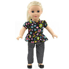 Children's Gift Shirt Trouser Doll Clothes Dress Fit 18 Inch American Girl Dolls