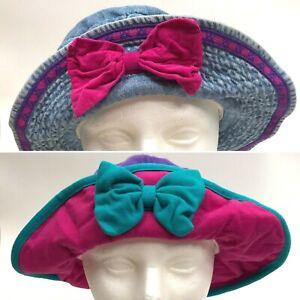 1990s Bucket Hats Vintage Gymboree Size L/XL Bow Sun Hat Retro Cotton Lot of 2