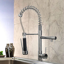 Modern Pull Down Spray Swivel Spout Kitchen Sink Faucet Spring Mixer Tap Chrome