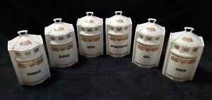 200 Let Karlovarsky  porcelain Czechoslovakian Floral canister set of 6