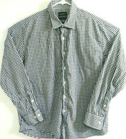 STANTT Canal Mens Custom Sz L Long Sleeve Checks & Plaid Button Front Shirt
