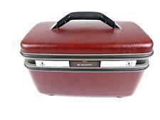 Vintage Samsonite Makeup Train Overnight Case Tray & Tilting Mirror Luggage USA