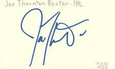 Joe Thornton Boston Nhl Hockey Autographed Signed Index Card