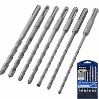 BlueSpot 7pc SDS Plus Masonry Hammer Drill Bits Set Brick Concrete 5 6 8 10 12mm