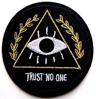 Illuminati Anonymous Patch New World Order eye Iron Sew On Applique