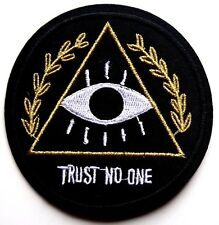 Illuminati Anonymous Patch New World Order eye Iron Sew On Applique