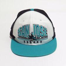 Vintage San Jose Sharks Hat Cap Snapback New Era FITS NHL Hockey Teal