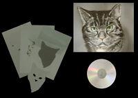 Airbrush Schablone Step by Step / Stencil / Tiere / 0683 Katzenkopf 2 & CD