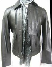 $680 ROCK REPUBLIC Collection S Men Leather Jacket Motocycle Biker Handsome Gift